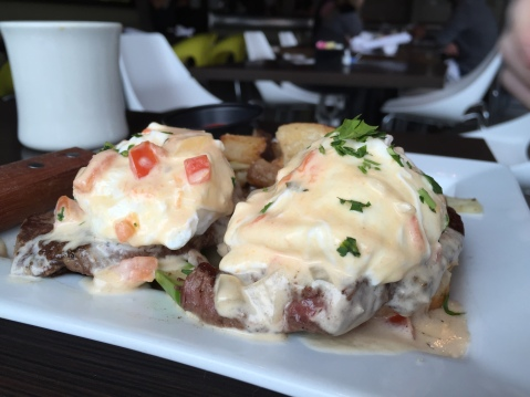 Just look at it! - Southern Steak Benedict at 10th & Piedmont